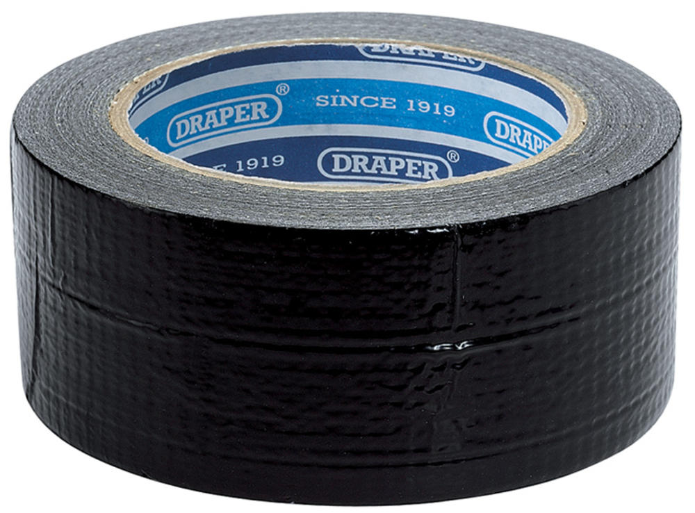 Draper 49432 TP-DUCT/B/A 33M x 50mm Black Duct Tape Roll