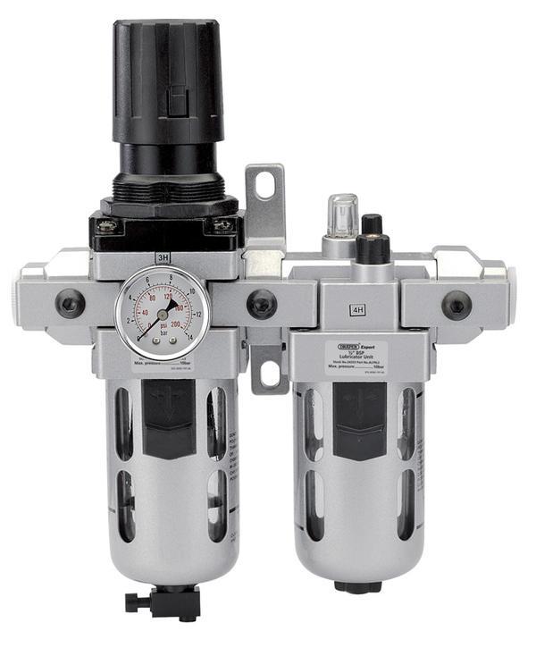 "Draper 24333 ALFRL2 1/2"" BSP Combined Filter/Regulator/Lubricator Thumbnail 1"