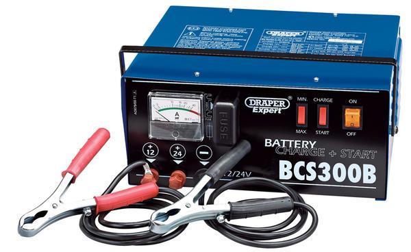 Draper 24391 BCS300B Expert 12/24V 300A Battery Starter/Charger Thumbnail 1