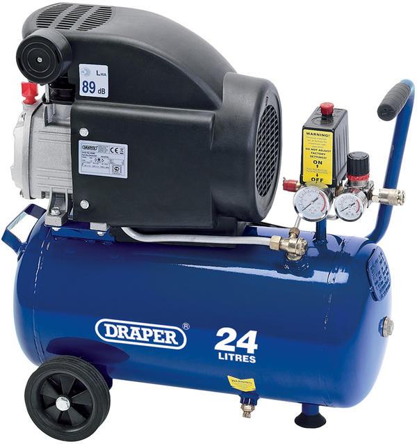 Draper 24980 DA25/207 24L 230V 1.5kW (2hp) Air Compressor Thumbnail 1