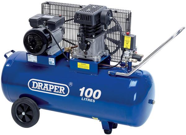 Draper 31254 DA100/330 100L 230V 2.2kW Belt-Driven Air Compressor Thumbnail 1