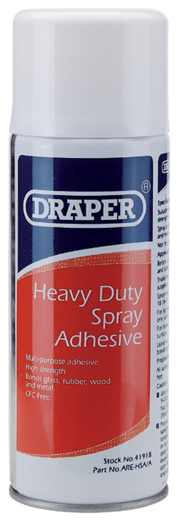 Draper 41918 ARE-HSA/A 400ml Heavy Duty Spray Adhesive Thumbnail 1