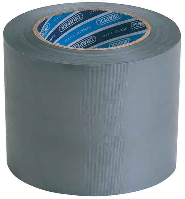 Draper 49433 TP-DUCT/A 33M x 100mm Grey Duct Tape Roll Thumbnail 1