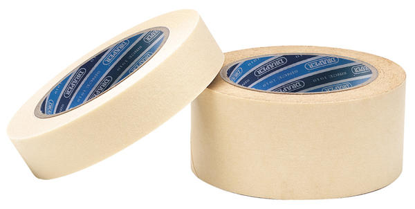 Draper 63481 TP-MASK 50M x 25mm Masking Tape Roll Thumbnail 1