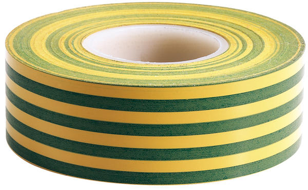Draper 65348 619/1 Insulation Earth Colour Tape Thumbnail 1