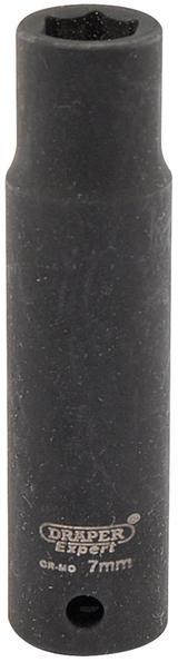 "Draper 5185 Expert 7mm 1/4"" Square Drive Hi-Torq 6 Point Deep Impact Socket"