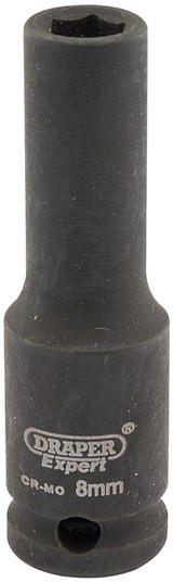 "Draper 6881 Expert 8mm 3/8"" Square Drive Hi-Torq 6 Point Deep Impact Socket"