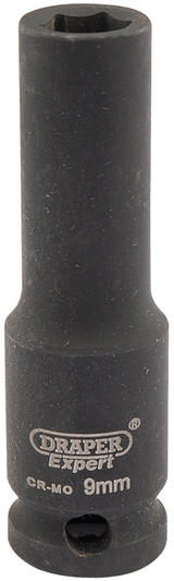 "Draper 6882 Expert 9mm 3/8"" Square Drive Hi-Torq 6 Point Deep Impact Socket"