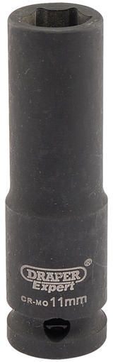 "Draper 6884 Expert 11mm 3/8"" Square Drive Hi-Torq 6 Point Deep Impact Socket"