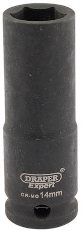 "Draper 6887 Expert 14mm 3/8"" Square Drive Hi-Torq 6 Point Deep Impact Socket"
