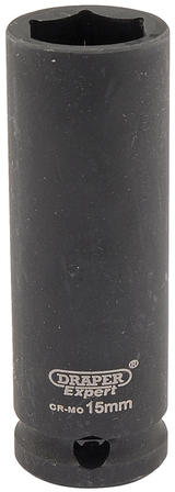 "Draper 6888 Expert 15mm 3/8"" Square Drive Hi-Torq 6 Point Deep Impact Socket"