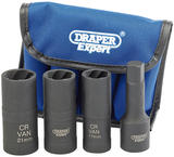 "Draper 9539 LWN/DS4 Expert 4 Piece 1/2"" Sq. Dr. Wheel Nut Double Socket Kit"