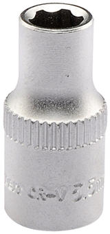 "Draper 09819 B6-MM Expert 5.5mm 1/4"" Square Drive Satin Chrome Hi-Torq 6 Point Socket"