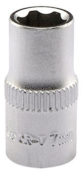 "Draper 09821 B6-MM Expert 7.0mm 1/4"" Square Drive Satin Chrome Hi-Torq 6 Point Socket"