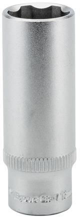 "Draper 09829 BT6-MM Expert 13mm 1/4"" Sq. Dr. Hi-Torq Metric Satin Chrome Deep Sockets"