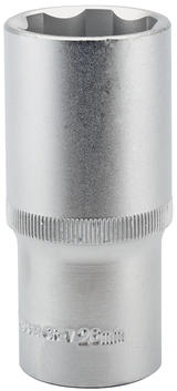 "Draper 09888 HT6-MM Expert 26mm 1/2"" Square Drive Hi-Torq Satin Chrome 6 Point Deep Socket"