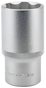 "Draper 09891 HT6-MM Expert 32mm 1/2"" Square Drive Hi-Torq Satin Chrome 6 Point Deep Socket"