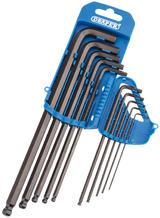Draper 33723 TBTL10A/B Imperial Hexagon & Ball End Hex Key Set 10 Pce
