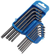 Draper 33743 TX8/9/B 9 Piece TX-STAR Key Set