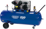 Draper 34383 DA200/300D 200L 230V 2.2kW Belt-Driven Air Compressor