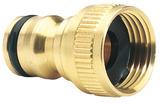 """Draper 36197 GWB1/H Expert Brass 1/2"""" BSP Garden Hose Tap Connector"""