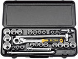 "Elora 50650 770-OKLAMU 1/2"" Sq. Dr. Metric/Imperial Socket Set 28Pc"