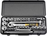 "Elora 50650 770-OKLAMU 1/2"" Sq. Dr. Metric/Imperial Socket Set 28Pc"