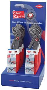 Knipex 54045 00 19 19 V25 Knipex Countertop Display of 10 x 250mm Cobra Waterpump Pliers