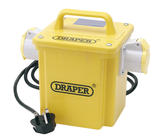Draper 62000 DPT1500/2 Expert 1.5kVA 230V to 110V 16A Twin Outlet Portable Transformer