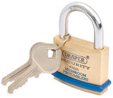 Draper 64161 8302/40 40mm Solid Brass Padlock and 2 Keys