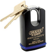 Draper 64196 8312/46 Expert 46mm Heavy Duty Padlock and 2 Keys with Shrouded Shackle