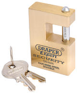 Draper 64200 8313/56 Expert 56mm Solid Brass Padlock and 2 Keys