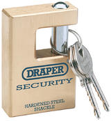 Draper 64202 8313/76 Expert 76mm Solid Brass Padlock and 2 Keys