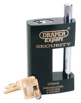 Draper 64205 8314/103 Expert 103mm Heavy Duty Close Shackle Padlock and 2 Keys