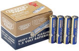 Draper 64247 DLR03/HD24 Trade Pack of 24 AAA-Size Heavy Duty Alkaline Batteries
