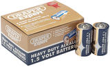 Draper 64249 DLR14/HD12 Trade Pack of 12 C-Size Heavy Duty Alkaline Batteries