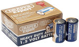 Draper 64250 DLR20/HD12 Trade Pack Of 12 D-Size Heavy Duty Alkaline Batteries