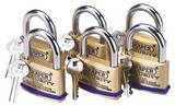Draper 67663 8302/60/KA Pack of 6 x 60mm Solid Brass Padlocks