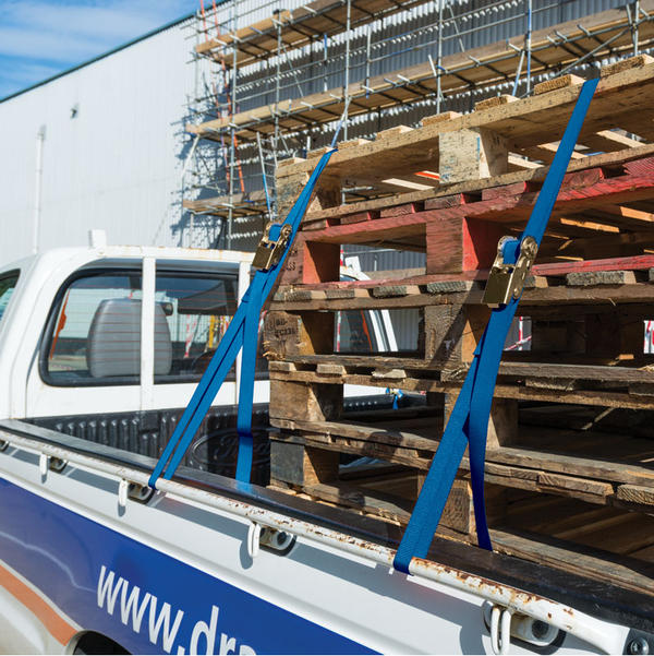 Draper 60968 RTDS400B2/B 4.5M 350Kg Ratchet Tie Down Strap (2 Pack) Thumbnail 2