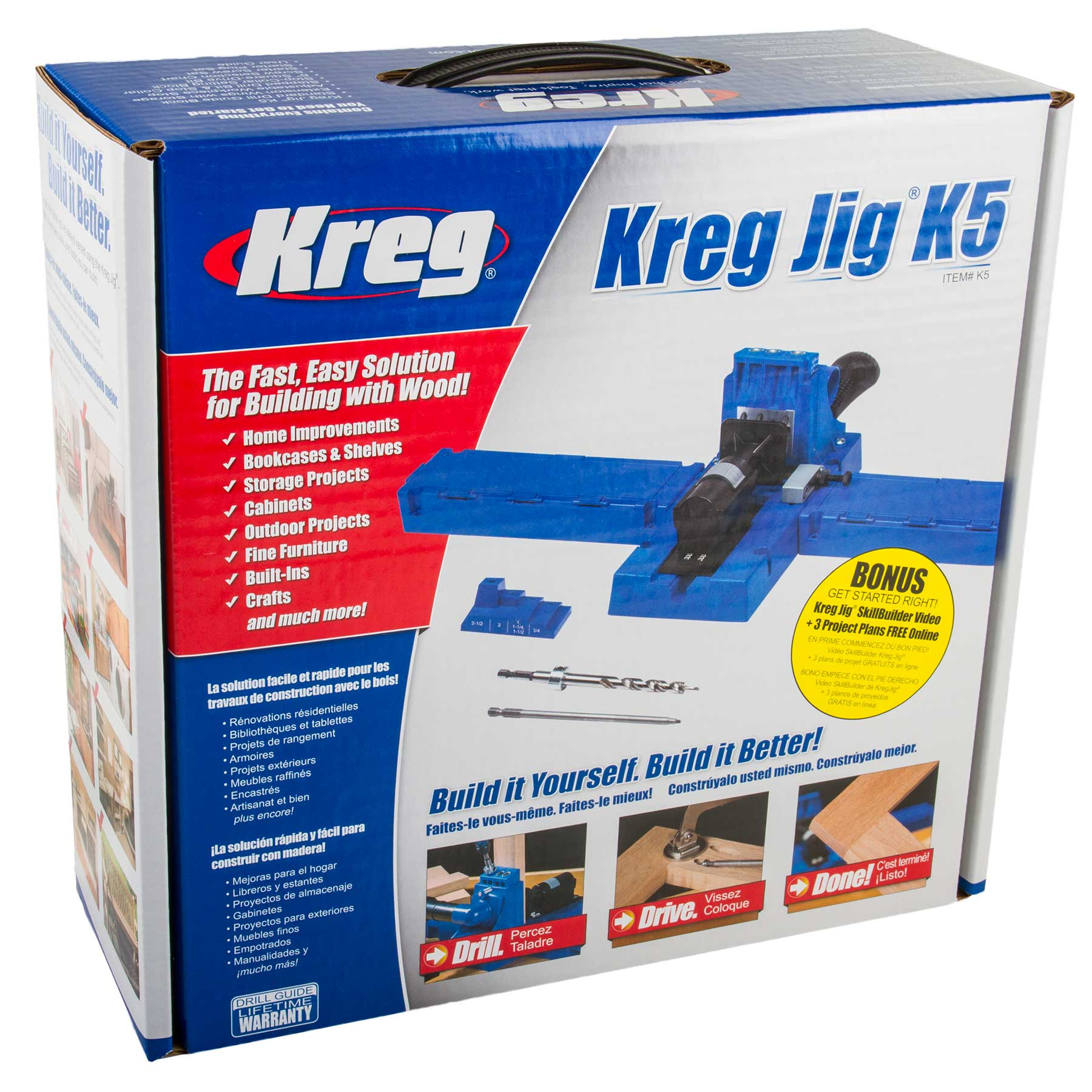 Kreg K5 Pocket Hole Jig Kit with 675 Screws | Kreg K5