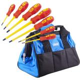 Draper VDE Electricians Insulated Screwdriver Set with Small Tool Bag