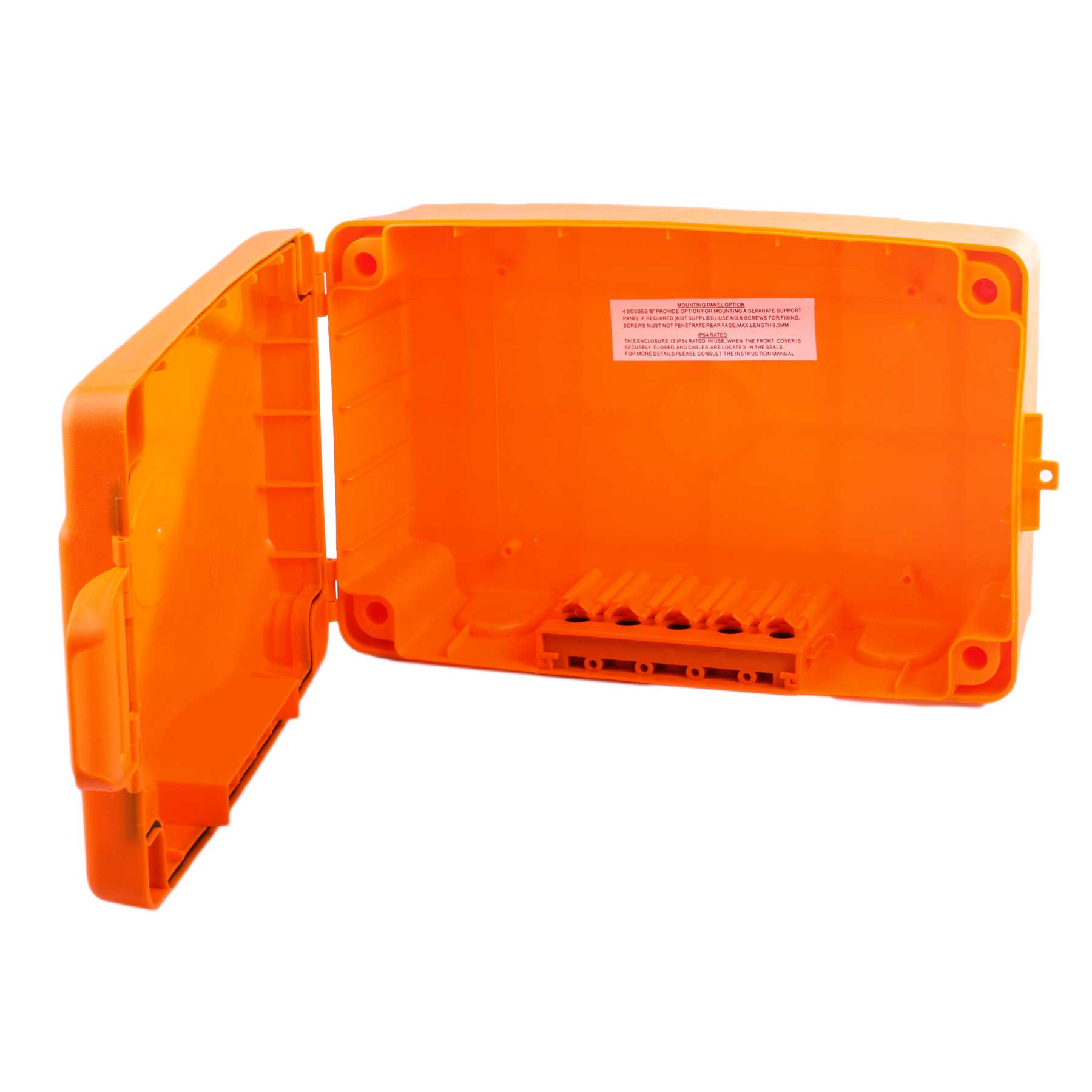 Masterplug ip54 Weatherproof Electric Box-Orange