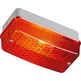 Knightsbridge E27PR IP65 100W E27 Bulkhead Red Prismatic Diffuser