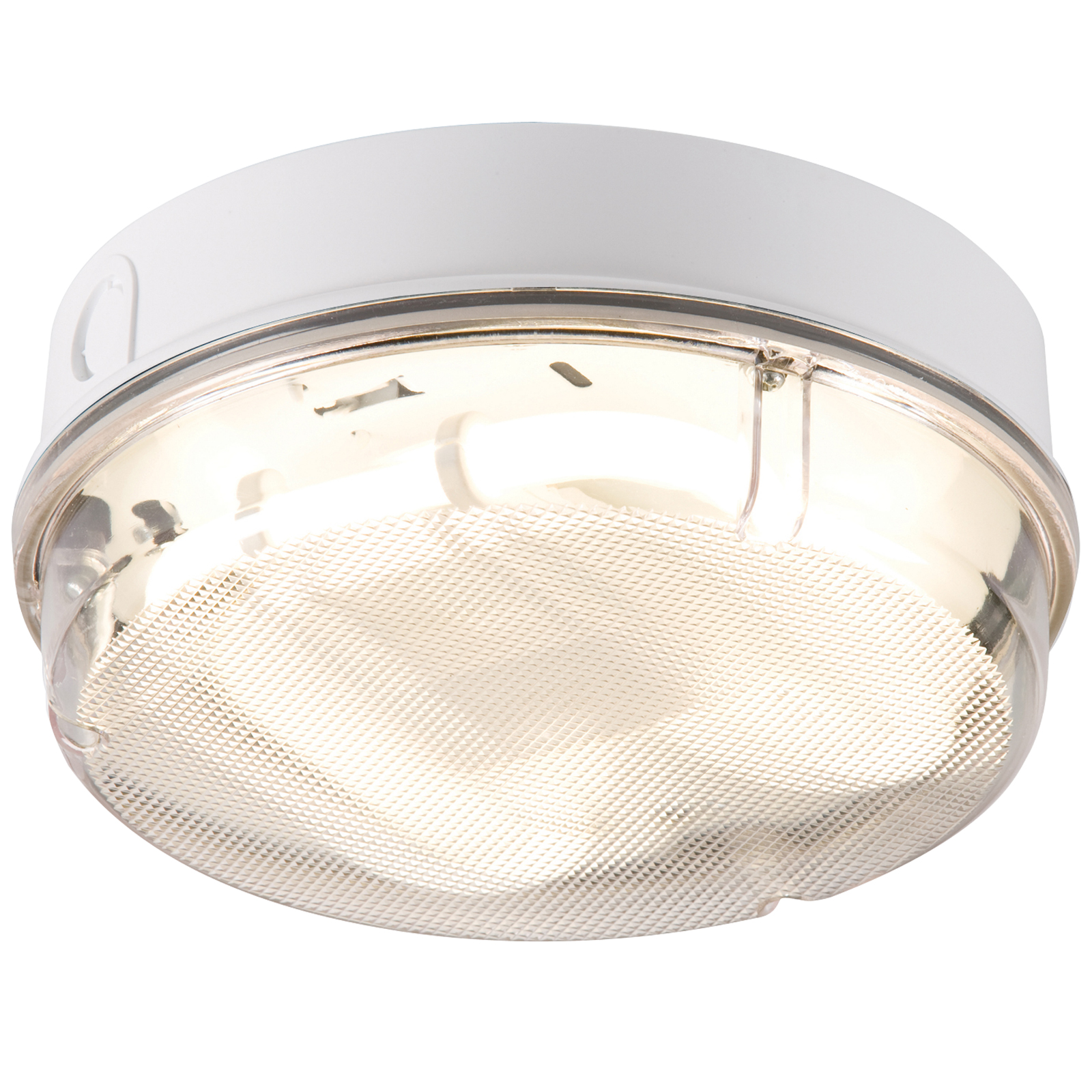 Greenbrook 2DR16WP Circular Bulkhead Light Fitting 2D White //Prismatic 16 Watt