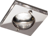 Knightsbridge CH15GUSCL IP65 GU10 50W Square Clear Glass Downlight Chrome