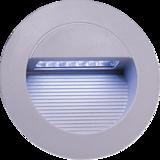 Knightsbridge NH017W IP44 14 x White LED Grey Alum Round Rec Wall Light