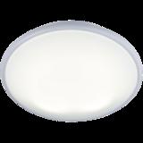Knightsbridge IP20 28W 2D Bulkhead Opal Diffuser & White Base HF Emergency