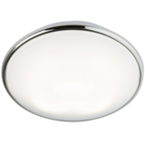 Knightsbridge TP28W2DCHF IP20 28W 2D Bulkhead Opal Diffuser & Chrome Base - HF