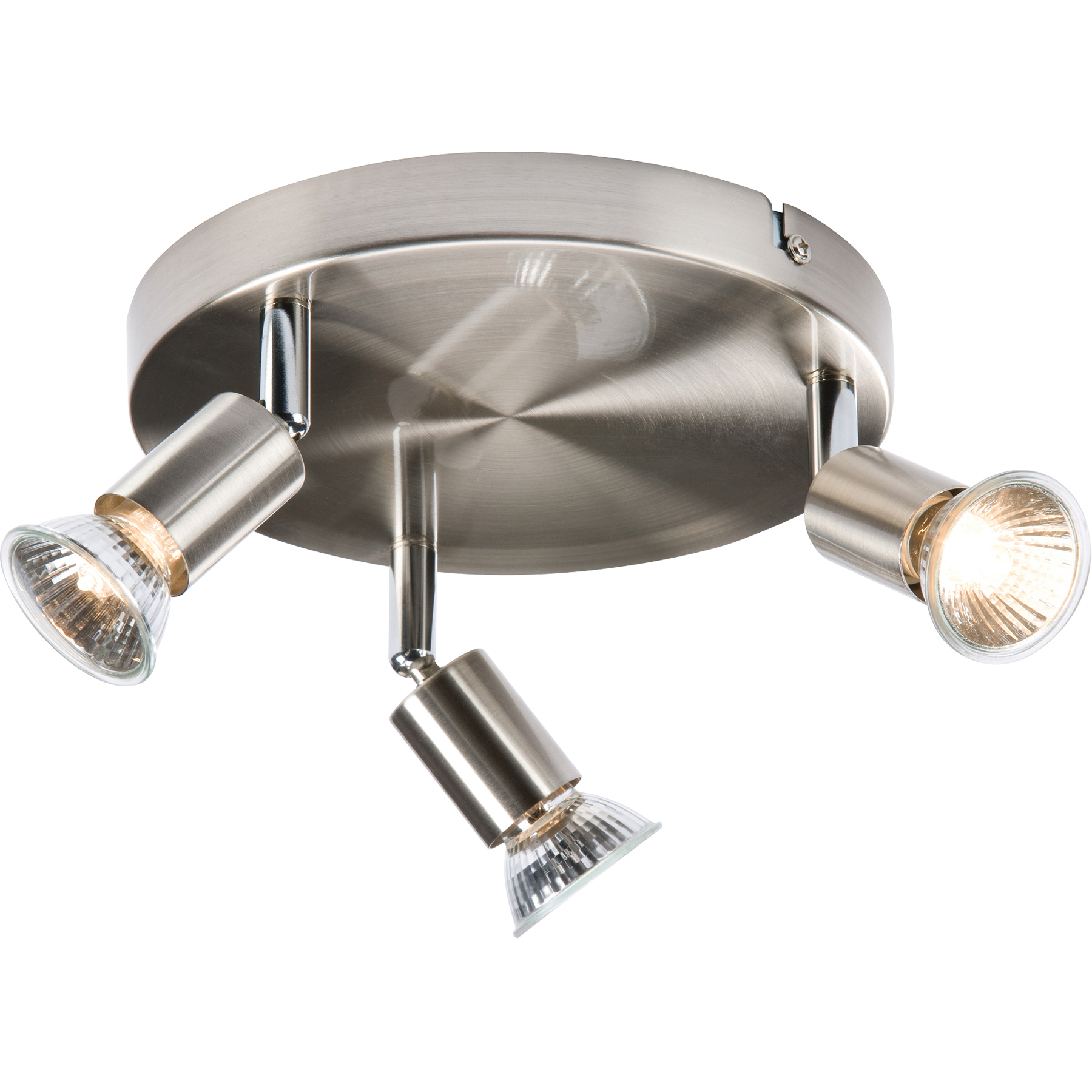 light fittings kitchen knightsbridge spgu3bc 240v 50w gu10 lamp 3 x spot circ 3736