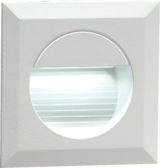 Knightsbridge NH019W 230V Recessed IP54 Square Indoor/Outdoor LED Guide/Stair/Wall Light White LED